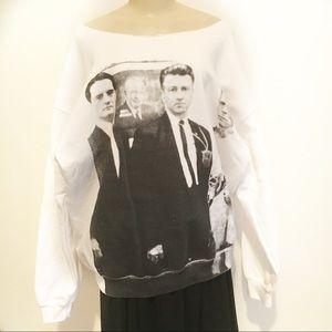 Tops - Twin Peaks sweatshirt Lynch MacLachlan Bowie XL